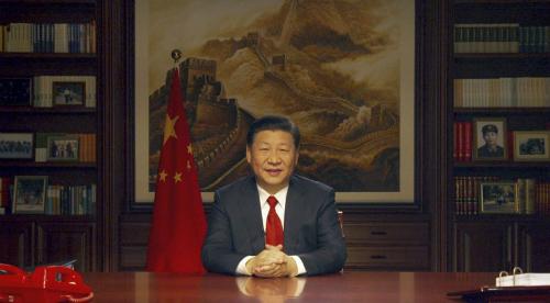 Video chúc mừng năm mới của chủ tịch Trung Quốc được quay tại thư phòng riêng.