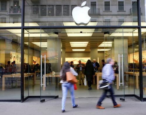 Một Apple Store tại Zurich (Thụy Sỹ).