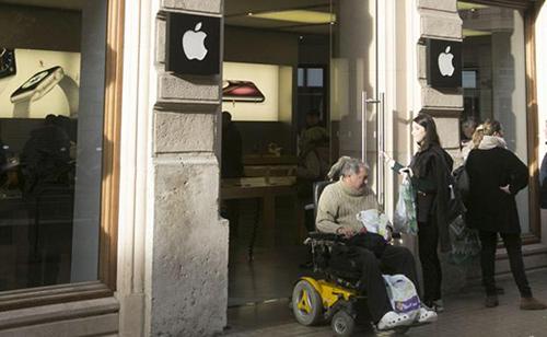 Một cửa hàng của Apple tại Tây Ban Nha.