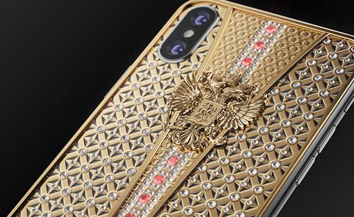 Mẫu iPhone được chế tác bằng vàng vàđá quý.