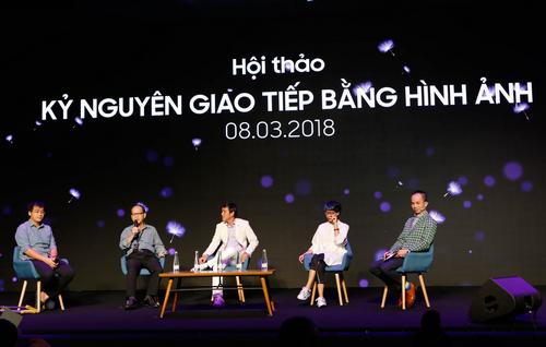 Từ trái qua phải: Chuyên gia Hoàng Sơn, Nhà báo Phạm Hồng Phước, Nhiếp ảnh gia Minh Hòa, nhiếp ảnh gia Maika và Nhà báo Hoàng Minh Trí.