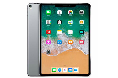 Một bản dựng iPad với màn hình tai thỏ.