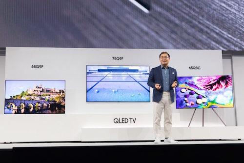 Samsung QLED 2018 có 4 dòng sản phẩm với nhiều kích thước khác nhau.