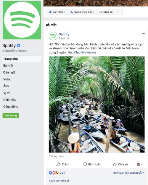 Dịch vụ nghe nhạc trực tuyến lớn nhất thế giới vào Việt Nam