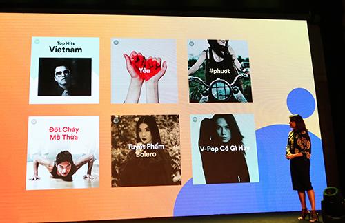 Spotify cung cấp danh sách (playlist) nhạc đa dạng và dành riêng cho người dùng Việt Nam tùy theo sở thích và nhu cầu.