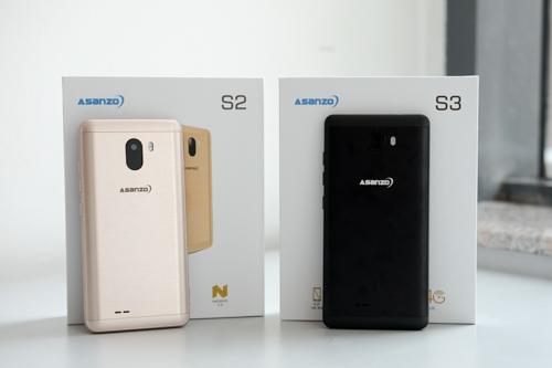 Bộ đôi smartphone Asanzo S2 và S3.
