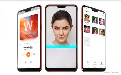 Mẫu Android F7 với màn hình kiểu tai thỏ như iPhone X.