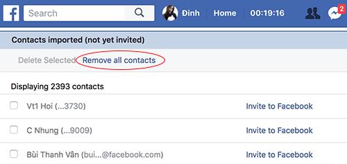 Danh bạ được đồng bộ từ điện thoại và lưu trữ trên Facebook.