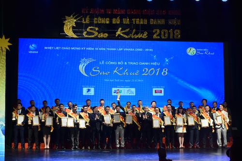 Lễ trao danh hiệu Sao Khuê 2018 diễn ra sáng 21/4 tại Hà Nội.