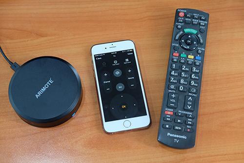Arimote có thể thay thế điều khiển TV, điều hoà trong nhà.