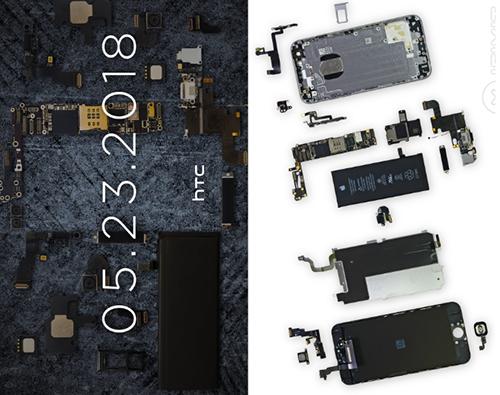 Một số hình ảnh linh kiện iPhone 6 (bên phải).