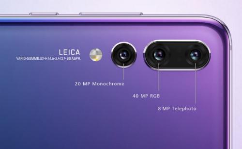 P20 Pro với hệ thống camera 3 ống kính được Huawei hợp tác phát triển với Leica.