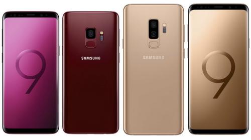 Hai màu mới trong tổng số sáu màu sắc của Galaxy S9 và S9+.
