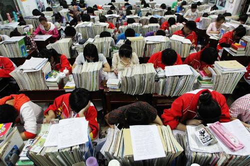 Luyện thi đại học ở Trung Quốc.