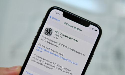 Thông báo cập nhật iOS 12 Developer beta.