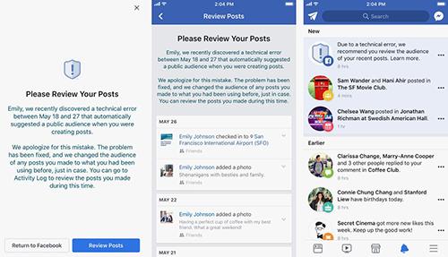 Facebook gửi cảnh báo bảo mật đến những ai bị ảnh hưởng.
