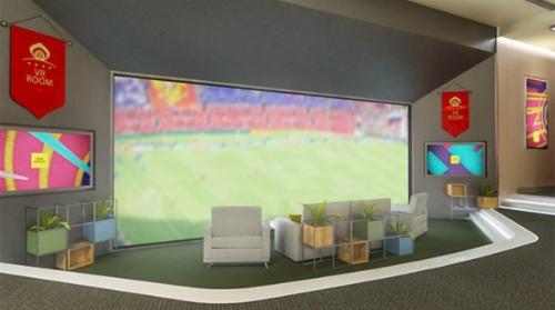 Công nghệ VR có thể giả lập màn hình lớn hay tạo trải nghiệm như ở sân vận động khi xem các trận đầu World Cup.