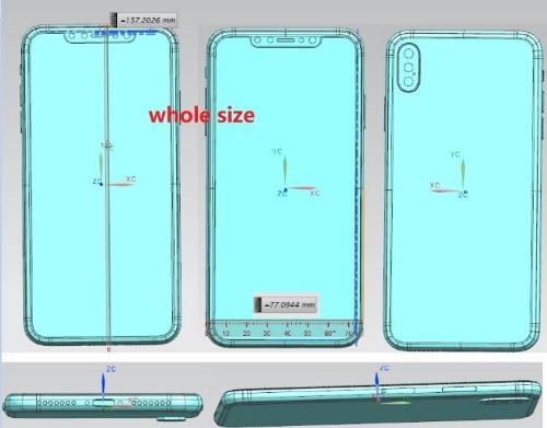 iPhone X Plus có màn hình lên tới 6,5 inch nhưng kích thước trong thiết kế còn gọn hơn iPhone 8 Plus.