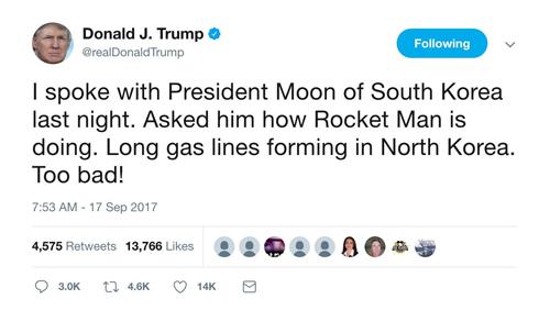 Những lần Trump lời qua tiếng lại với Kim Jong-un trên mạng