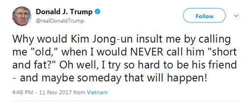 Những lần Trump lời qua tiếng lại với Kim Jong-un trên mạng - 1