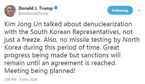 Những lần Trump lời qua tiếng lại với Kim Jong-un trên mạng - 3