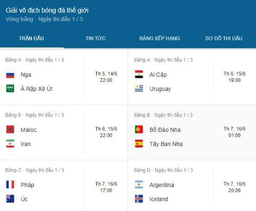Loạt tính năng hỗ trợ xem World Cup của Google