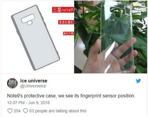 Ốp lưng mới hé lộ thiết kế Galaxy Note9.