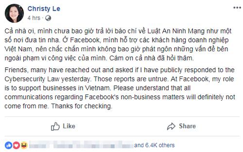 Giám đốc Facebook Việt Nam lên tiếng về tin giả.