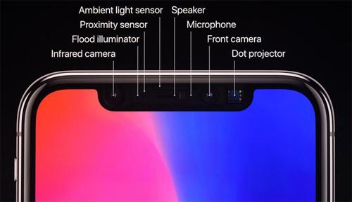 Tai thỏ của iPhone X trông khác biệt và chứa nhiều thành phần hơn ngoài camera trước.