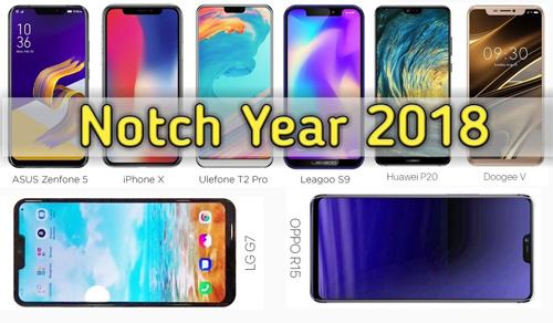 Màn hình tai thỏ là xu hướng thiết kế smartphone năm 2018.
