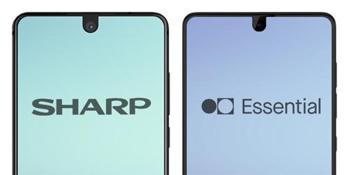 Sharp và Essential là hai nhà sản xuất đầu tiên đưa thiết kế notch (tai thỏ) lên smartphone.