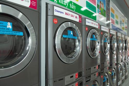 Hệ thống máy giặt đạt chuẩn công nghiệp của LG.