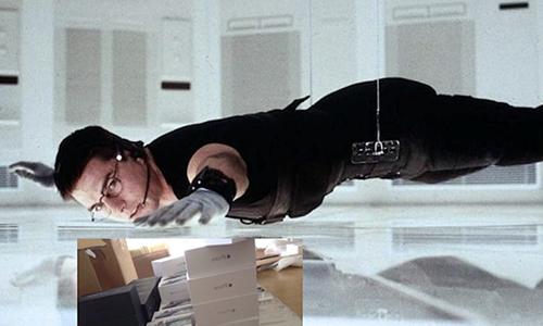 Ảnh chế dựa trên một cảnh trong phimMission Impossible.