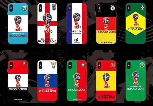 Loạt ốp lưng in hình biểu tượng World Cup 2018 và màu cờ của các đội tuyển nổi bật.