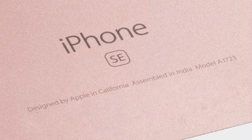 Người dùng giờ có thể bắt gặp những dòng chữ Assembled in India thay vì Assembled in China trên iPhone SE và 6s.