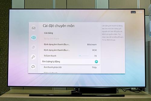 Mục âm lượng tự động có thể tìm thấy trong phần cài đặt âm thanh của TV.