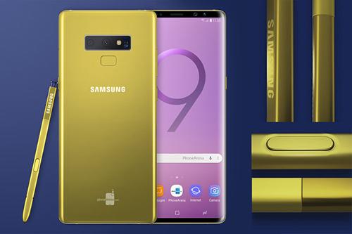 Một phiên bản Galaxy Note9 khác với màu vàng đậm dần.