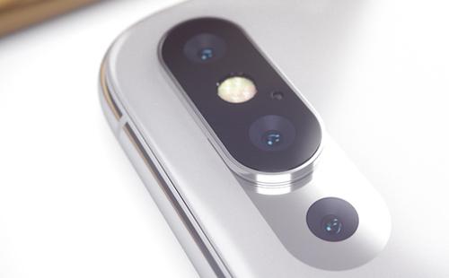 Một thiết kế khác là giữ nguyên cụm camera kép và đèn flash như trên iPhone X nhưng bên dưới có thêm một ống kính thứ ba.