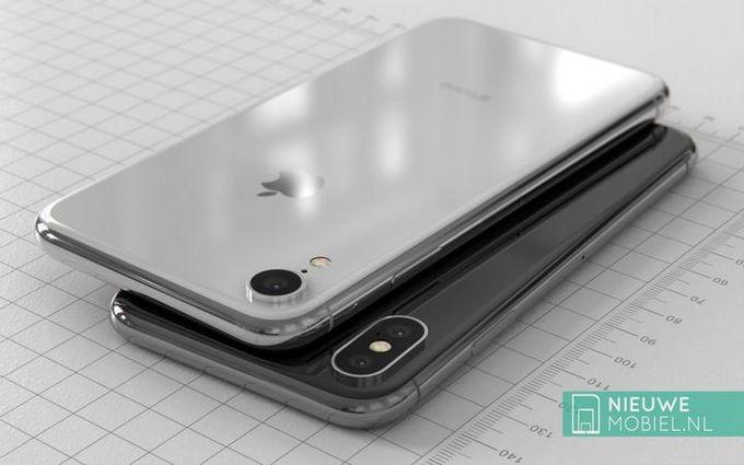 Ảnh dựng iPhone X phiên bản giá rẻ màn LCD 6,1 inch