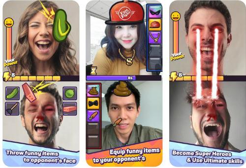 Facefight sử dụng công nghệ AR, camera của smartphone để mang tới trải nghiệm chơi độc đáo.