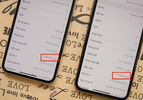 Người dùng dễ bị nhầm iPhone hàng CPO với hàng mới nếu không chú ý đến mã hiệu trong phần mềm.
