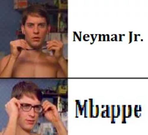 Nhiều người tưởng mình đã nhìn nhầm Neymar chơi cho đội tuyển Pháp, nhưng kỳ thực đó chính là Mbappe.