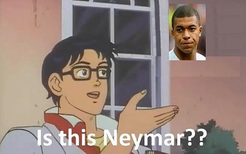 Một tài khoản Facebook tự hỏi đây có phải là Neymar.