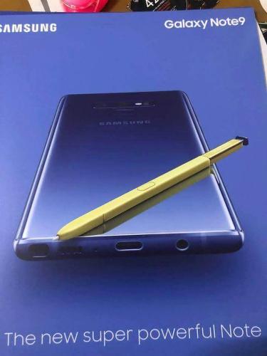 Tấm poster về Galaxy Note9 đang lan truyền trên Internet. Ảnh: Slashleak.
