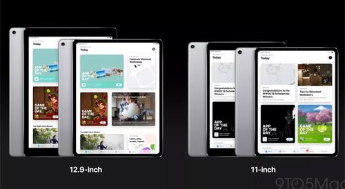 iPad Pro có thêm dòng 11 inch, kích thước tương đương bản iPad Pro 10,5 inch cũ.