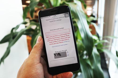 Khi IMEI bị Apple loại khỏi hệ thống, sẽ có thông báo màu đỏ.