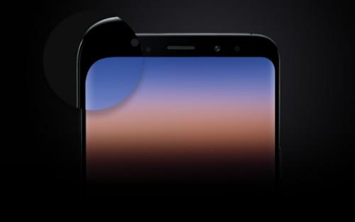 Đường bo cong thống nhất với viền tấm nền trên Galaxy S9+.