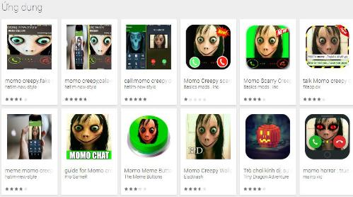 Các ứng dụng ăn theo Momo xuất hiện trên Google Play.