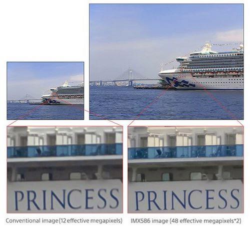 Hình ảnh chụp bởi IMX586 cho hình ảnh rõ nét hơn.