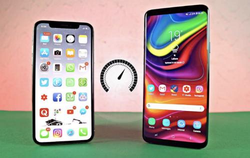 iPhone X được Apple giới thiệu có tốc độ Internet 4G LTE nhanh chưa từng có nhưng vẫn thua Galaxy S9, S9+ và bộ đôi Pixel 2. Ảnh: ytimg.